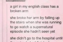 Supernatural  *screaming in pain*