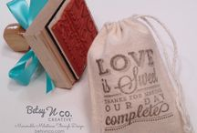 Betsy N Co. Wedding DIY / Products & Ideas to help DIY brides decorate for their wedding including rubber stamps, favor ideas, thank you's, gifts