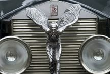 Hood Ornaments/Emblems/Model Names / During the Golden Age of automobiles, the Hood Ornament (and before that the Radiator Cap) was the most prominent feature of a car's aesthetics. The Hood Ornament did more than identify a make; it defined the car's style! Sing praise to the chrome logos and lettering (fonts) affixed to these vintage automobiles for they to are fantastic as well. I'm just fantasied by them all! / by Susan Hurtt Hussien