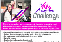 The 400 Challenge - #400CHALL / This is about our 400 Apprentices Challenge which runs until 31st July 14.  Are you thinking about taking on an #Apprentice ? Do you want to join our challenge?