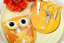 Owl manicure set