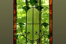 Stained glass windows and panels