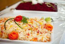 Gemüse- und Salatplatten