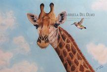 Nuevas obras (Pinturas de animales) / Cuadros de animales que parecen fotografías pintados por la artista animalista Gabriela del Olmo realizadas en la técnica de pinturas pastel.