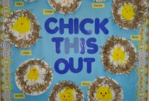 Ostern Hühner und Küken