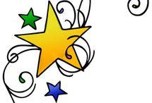"""Estrellas / Desde que vi """"You're beautiful"""" quede prendada de las estrellas y me gusta coleccionarlas. Aquí una recopilación de las que me han gustado y he encontrado por estos lares."""