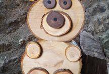 ξύλινα ζωάκια