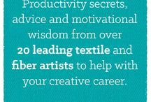 Creative Path / Want to know how 20 leading Textile and Fiber Artists beat procrastination, boost their productivity and consistently put their ideas into action… for FREE? http://www.textileartist.org/giveaway2