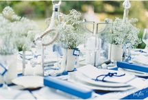 Love Knot Blue and White / This is a Blue and White table we designed to show some of the ideas we have come up with. The photos were taken by Louise from Louise Vorster Photography. Hope you enjoy