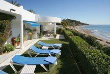 Marbella idyllic villa Golden MILE , SPAIN / this beautiful villa is right on the beach , 3 & 4 bedrooms available