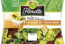 Les produits Florette / Des salades pour tous les goûts et pour toutes les saisons.