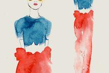 Fashion illustration watercolour