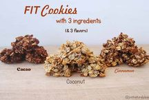 Fit Cookies (with 3 ingredients and 3 flavors) / With only 3 ingredients it is possible to make these delicious and healthy cookies! Must try! They are vegan, gluten-free, sugar-free, soy-free and nut-free.