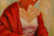 WOMEN IN RED Art