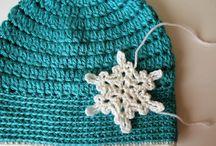 Crochet hats frozen
