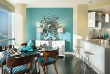 Teal In The Dinning Room