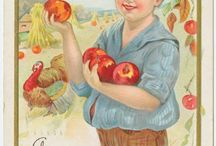 Vintage Fall/ Thanksgiving postcards/photos / by Jennifer Lowe
