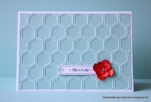 embossing folder cards / by Mary W. Morning Sun Studio