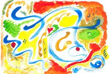 Another World / Set of abstract paintings that show some of the infinite possibilities of a world taking shape inside me.