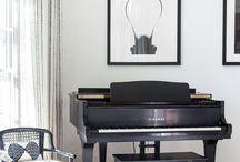 Interior for piano