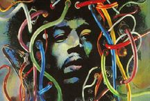 Jimi Hendrix / The Man. The Myth. The Legend. The Rock n Roll God. / by PosterScene.com
