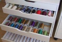 Sewing room/cupboard ideas