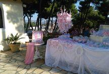 Διακόσμηση Βάπτισης pink floral themed