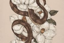 Snakes and flowers