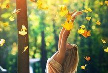 Осенняя фотосессия / Осень, съёмка на улице. Позы