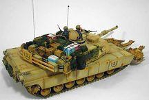Tanques modelos a escala