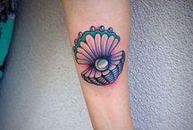 seashell tattoo sleeve