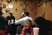 Dobyns Rods at Lake Fork 2013 / The whole crew is out having dinner on the town. We had a great time with the Dobyns Rods Family and friends!