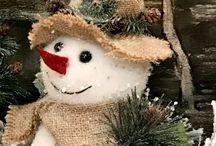sněhulák-dekorace
