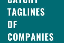Catchy Taglines of Companies