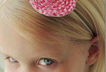 girls hair bows / by Melissa Wiebe