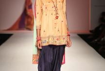 Tanvi Kedia | New Launch – AIFW '15 / Folklore Memories A canvas of digital prints and embroidery, with pop color accents.