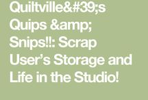 Quilts Scrap Use and Storage