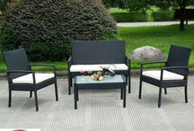 Patio Bistro Set Table And Chairs 4 Pcs Black Garden Backyard Outdoor Furniture