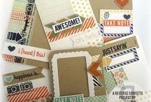 Scrapbook ♥ DIY Project life cards