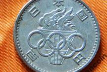 Япония монеты Серебро Медь Старина