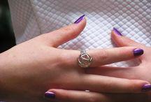 Air rings silver 925