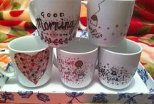My attempt to do Sharpie mugs
