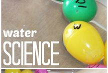 Science experiment with the letter W