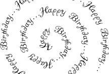 Stempel Tekst Verjaardag / by Mien Bongers