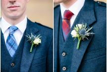 Boutonnieres - Real Weddings by Fête in France / For the dapper groom and groomsmen