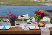 Tastemaker: Celebrity Wedding Planner / Poolside lunch in the Hamptons with Stefanie Cove, Celebrity Wedding Planner at Yifat Oren & Associates || Wedding planner to Drew Barrymore, Natalie Portman and Adam Levine, Stefanie's aesthetic is down to earth and effortlessly beautiful. Her registry picks combine bohemian with basics for whimsical, end of summer entertaining.