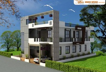 Apanghar House Designs / Apnaghar is India's 1st comprehensive website for online architectural services. Apnaghar offers professional drawings for floor plans, Earthquake resistant structures, working drawings, electrical and plumbing drawings, interior and commercial office drawings etc. Apnaghar with its unique concept provides readymade and customized house designs for specific requirement of residential house design throughout the world. / by Apnaghar