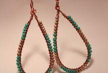 wireworking and beads jewelry / handmade wire and bead jewelry