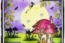fairy scene cards