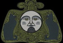Retro Halloween Embroidery Designs Collection 3 / Third collection of Halloween machine embroidery designs inspired by art deco postcards http://cindysembroiderydesigns.com/Retro-Halloween-Collection-3.html